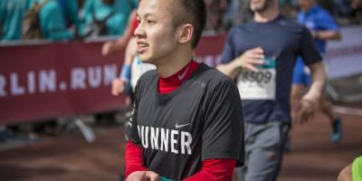 Quang Lam beim Berlin Halbmarathon