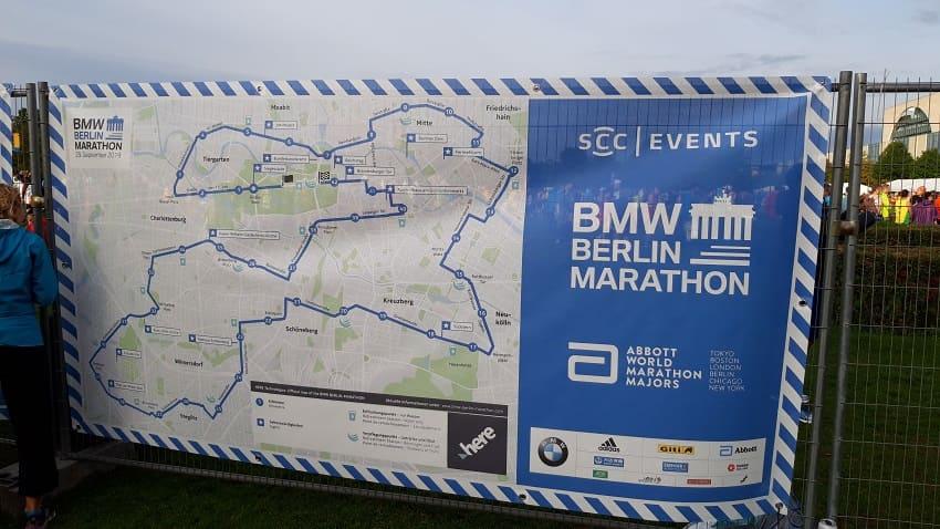 Strecke Berlin Marathon 2019